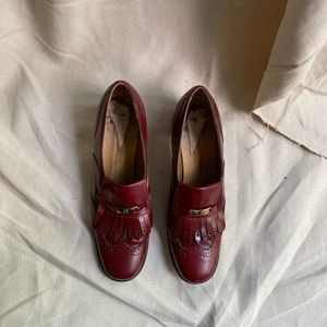 VINTAGE ETIENNE AIGNER LOAFERS WITH SHORT HEEL